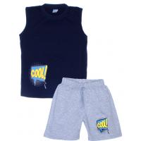 "11-582102 ""COOL"" комплект летний для мальчика, 5-8 лет, темно-синий"