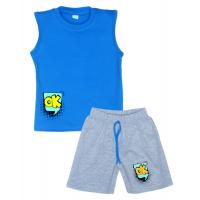 """11-582105 """"Ok"""" комплект летний для мальчика, 5-8 лет, голубой"""