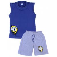 """11-582106 """"Hey"""" комплект летний для мальчика, 5-8 лет, синий"""