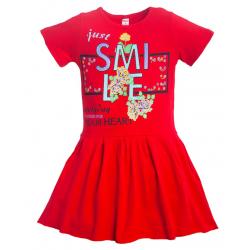 11-58805 Платье для девочки, 5-8 лет, красный