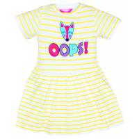 """11-58810 """"OOPS!"""" Платье в полоску, 5-8 лет, желтый"""