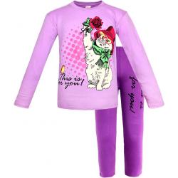 91282-05 Пижама для девочек, интерлок, 9-12 лет, сиреневый